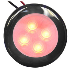 Aqua Signal Bogota 4 LED Round Light - Red LED w/Stainless Steel Housing