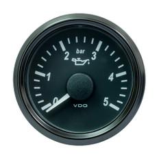 "VDO SingleViu 52mm (2-1/16"") Oil Pressure Gauge - 5 Bar - 0-180 Ohm"