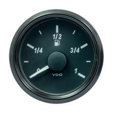 "VDO SingleViu 52mm (2-1/16"") Fuel Level Gauge - Euro - 90-5 Ohm"