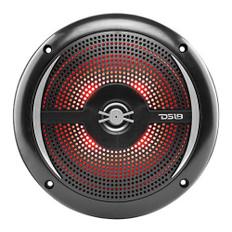 "DS18 HYDRO 6.5"" 2-Way Marine Slim Speakers w/RGB LED Lighting 100W - Black"