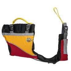MTI Underdog Dog Life Jacket - Red/Mango - X-Small