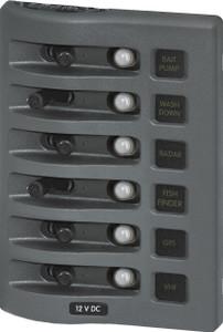 Blue Sea Weather Deck Panel 12v 6 Circuit Breaker Panel