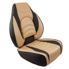 Springfield Fish Pro High Back Folding Seat - Charcoal/Tan