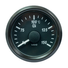 "VDO SingleViu 52mm (2-1/16"") Oil Temp. Gauge - Euro - 150 C - 322-18 Ohm"