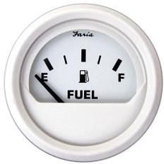 """Faria 2"""" Fuel Level Gauge (E-1/2-F) - White"""