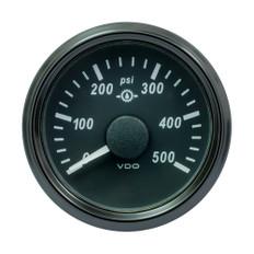 "VDO SingleViu 52mm (2-1/16"") Gear Pressure Gauge - 500 PSI - 0-4.5V"