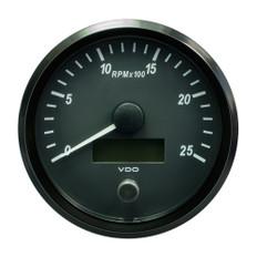 "VDO SingleViu 100mm (4"") Tachometer - 2500 RPM"