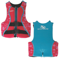Puddle Jumper Youth Hydroprene Life Vest - Teal/Pink - 50-90lbs