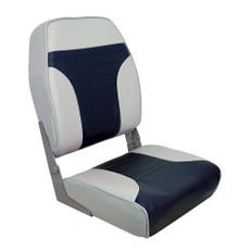 Springfield High Back Multi-Color Folding Seat - Blue/Grey