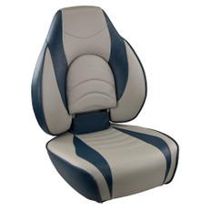 Springfield Fish Pro High Back Folding Seat - Blue/Grey