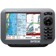 "SI-TEX SVS-880CF 8"" Chartplotter/Sounder Combo w/Internal GPS Antenna & Navionics+ Flexible Coverage Chart Card"