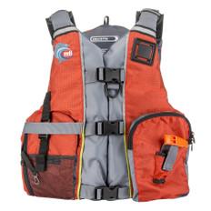 MTI Calcutta Fishing Life Jacket - Orange/Light Grey