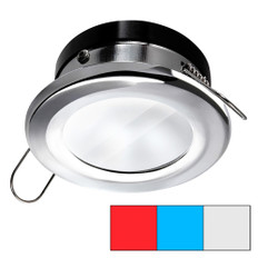 i2Systems Apeiron A1120 Spring Mount Light - Round - Red, Cool White & Blue - Polished Chrome