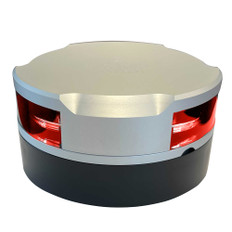 Lopolight 360 Navigation Light - 2nm f/Vessels Up To 164'(50M) - 0.7M Cable - Red w/Silver Housing