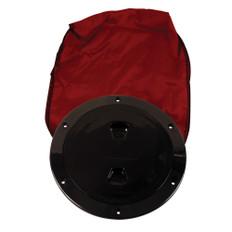 """Beckson 6"""" Stow-Away Deck Plate - Black w/12"""" Bag"""