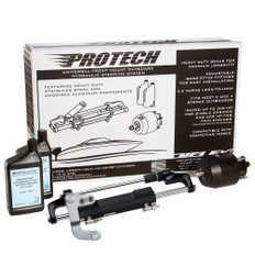 Uflex PROTECH 3.1 Front Mount OB Hydraulic System - Includes UP28 FM Helm, Oil & UC128-TS/3 Cylinder - No Hoses