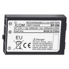 Icom BP-296 Li-Ion Battery - 3.6V - 2350mAh f/M37