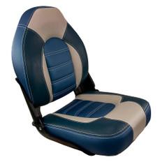 Springfield Skipper Premium HB Folding Seat - Blue/Grey