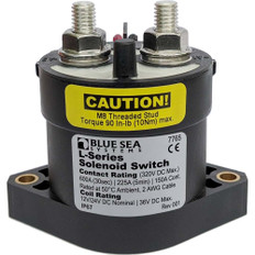 Blue Sea 7765 L-Series Solenoid Switch - 50A - 12/24V DC