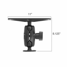 """Lowrance Mb-36 2-1/4"""""""" Ball Mount Bracket With Short Arm For 10"""""""" Units"""