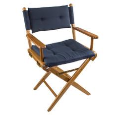 Whitecap Director's Chair w/Navy Cushion - Teak