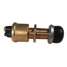 Raritan Heavy-Duty Push Button Switch - Brass