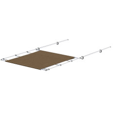 """SureShade PTX Power Shade - 51"""" Wide - Stainless Steel - Toast"""