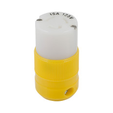 Marinco Locking Connector - 15A, 125V - Yellow