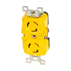 Marinco Locking Receptacle - 15A, 125V - Yellow