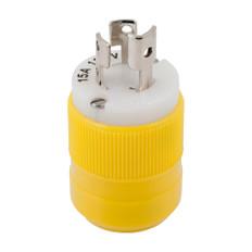 Marinco Locking Plug - 15A, 125V - Yellow