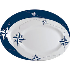 Marine Business Melamine Oval Serving Platters Set - NORTHWIND - Set of 2
