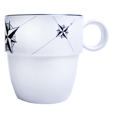 Marine Business Melamine Non-Slip Coffee Mug - NORTHWIND - Set of 6