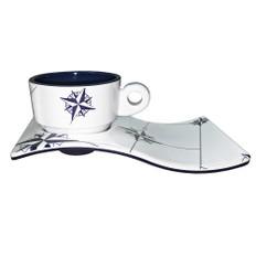 Marine Business Melamine Espresso Cup & Plate Coffee Set - NORTHWIND - Set of 6