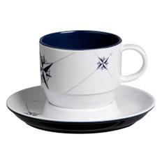 Marine Business Melamine Tea Cup & Plate Breakfast Set - NORTHWIND - Set of 6