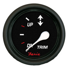 "Faria Professional Red 2"" Trim Gauge f/Cobra/Volvo"