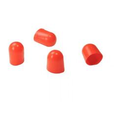 VDO Light Diffuser f/Type C & E Wedge Bulb - Red - 4 Pack