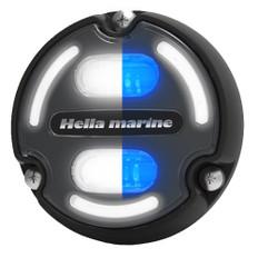 Hella Marine Apelo A2 Blue White Underwater Light - 3000 Lumens - Black Housing - Charcoal Lens w/Edge Light