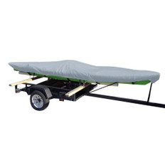 Carver Poly-Flex II Extra Wide Styled-to-Fit Cover f/14.5' Fishing Kayaks Trailerable - Grey