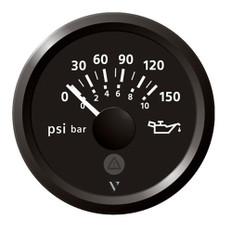 "Veratron 52mm (2-1/16"") Viewline Engine Oil Pressure 150 PSI - Black Dial & Bezel"