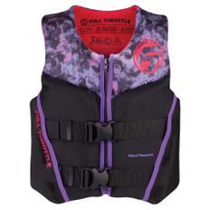 Full Throttle Youth Rapid-Dry Flex-Back Life Jacket - Pink/Black