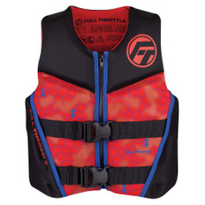 Full Throttle Youth Rapid-Dry Flex-Back Life Jacket - Red/Black