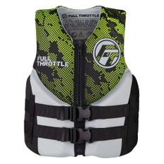 Full Throttle Junior Hinged Neoprene Life Jacket - Green