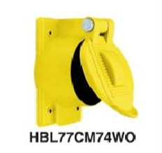 Hubbell HBL77CM74WO Cover For: 63CM70