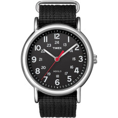 Timex Weekender Slip-Thru Watch - Black/Black