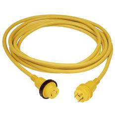 Marinco 30 Amp PowerCord PLUS Cordset w/Power-On LED - Yellow 50ft
