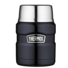 Thermos Stainless King Vacuum Insulated Food Jar - 16 oz. - Stainless Steel/Midnight Blue