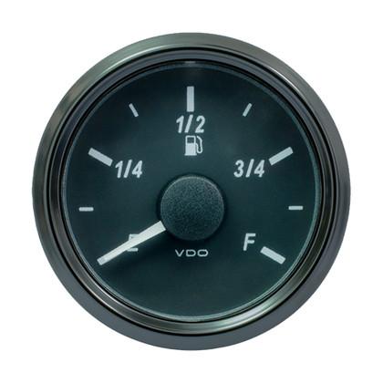 """VDO SingleViu 52mm (2-1/16"""") Fuel Level Gauge - E/F Scale - 0-180 Ohm"""