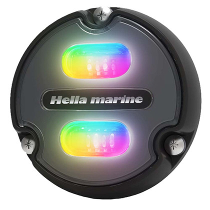 Hella Marine Apelo A1 RGB Underwater Light - 1800 Lumens - Black Housing - Charcoal Lens
