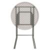 "32"" Round Granite White Plastic Bar Height Folding Table"