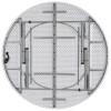 "72"" Round Bi-Fold Granite White Plastic Folding Table"